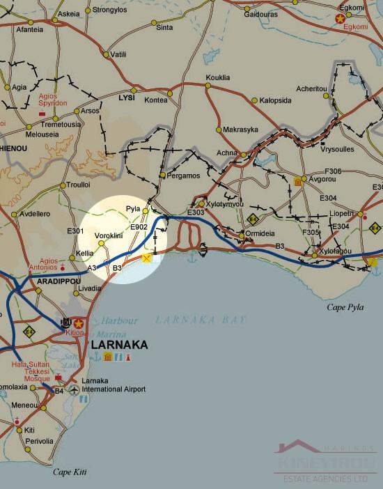 In Cyprus property, plot in Oroklini, Larnaca