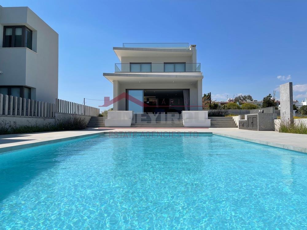 Luxury New Beach Front Villa in Pervolia Village, Larnaca