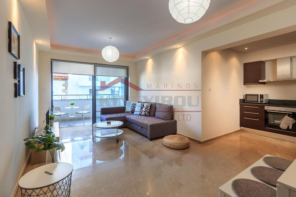 Two Bedroom apartment with side sea view in Finikoudes, Larnaca